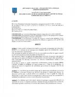 Arrêté n°14 réglementant l'activité de démarchage à domicile sur le territoire de la commune
