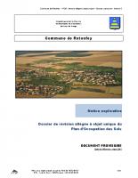 Dossier de révision allégée à objet unique du Plan d'Occupation des Sols