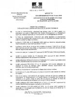 L'arrêté préfectoral 2019-DDT-SERAF-UC N°18 du 14 mars 2019