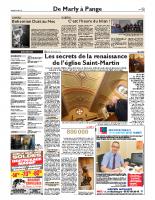 Les secrets de la renaissance de l'église Saint-Martin – Républicain Lorrain – 7 janvier 2018